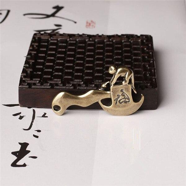 Chinese pure brass monkey Small pendant
