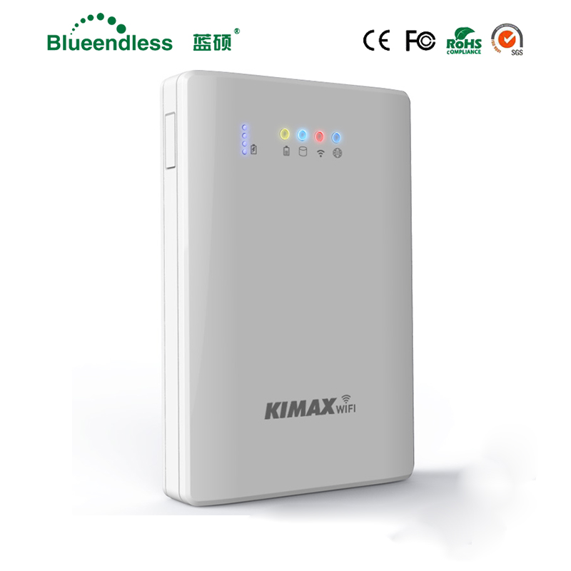 Blueendless 2.5 HDD Hard Disk Wifi Router Sata USB 3.0 HDD Enclosure with Power Bank function( 500G HDD included)external hdd