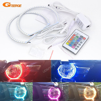 For Ford Mustang 2005 2006 2007 2008 2009 2010 2011 2012 Excellent RGB LED Angel Eyes