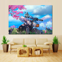 цена на Game Overwatches Genji Canvas Painting Prints Living Room Artwork Home Decoration Modern Wall Art Painting Posters Pictures HD