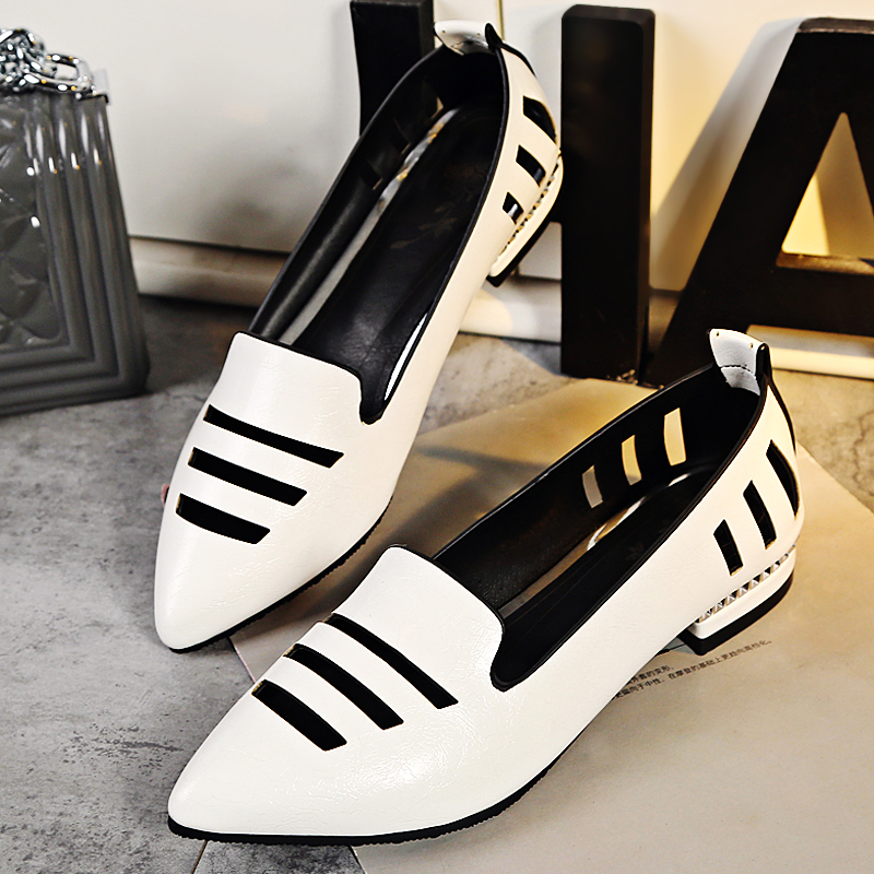2017 Plus big size 31-48 Casual Lace Up Thick MID Heel Shoes Fashion Patent Leather Woman Pumps Heels Spring Autumn shoes C810 2018 spring new design women shoes high heels thick soled platform shoes lace up bullock style mid heel big size sweet girls