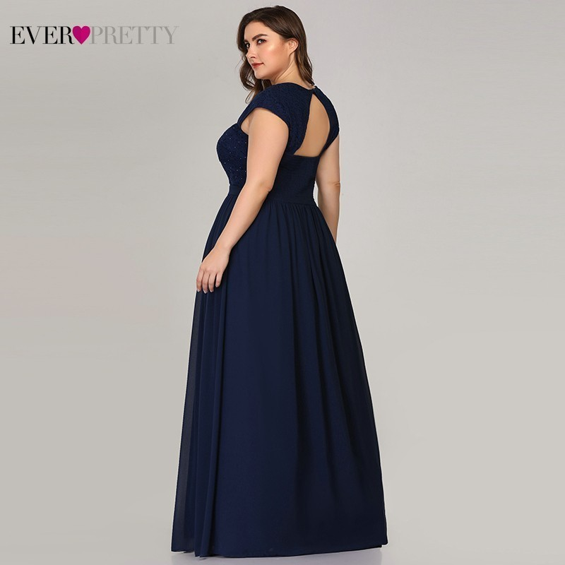 Plus Size Lace Bridesmaid Dresses Ever Pretty A-Line Sweetheart Beaded Navy Blue Elegant Wedding Guest Dresses Vestido Madrinha