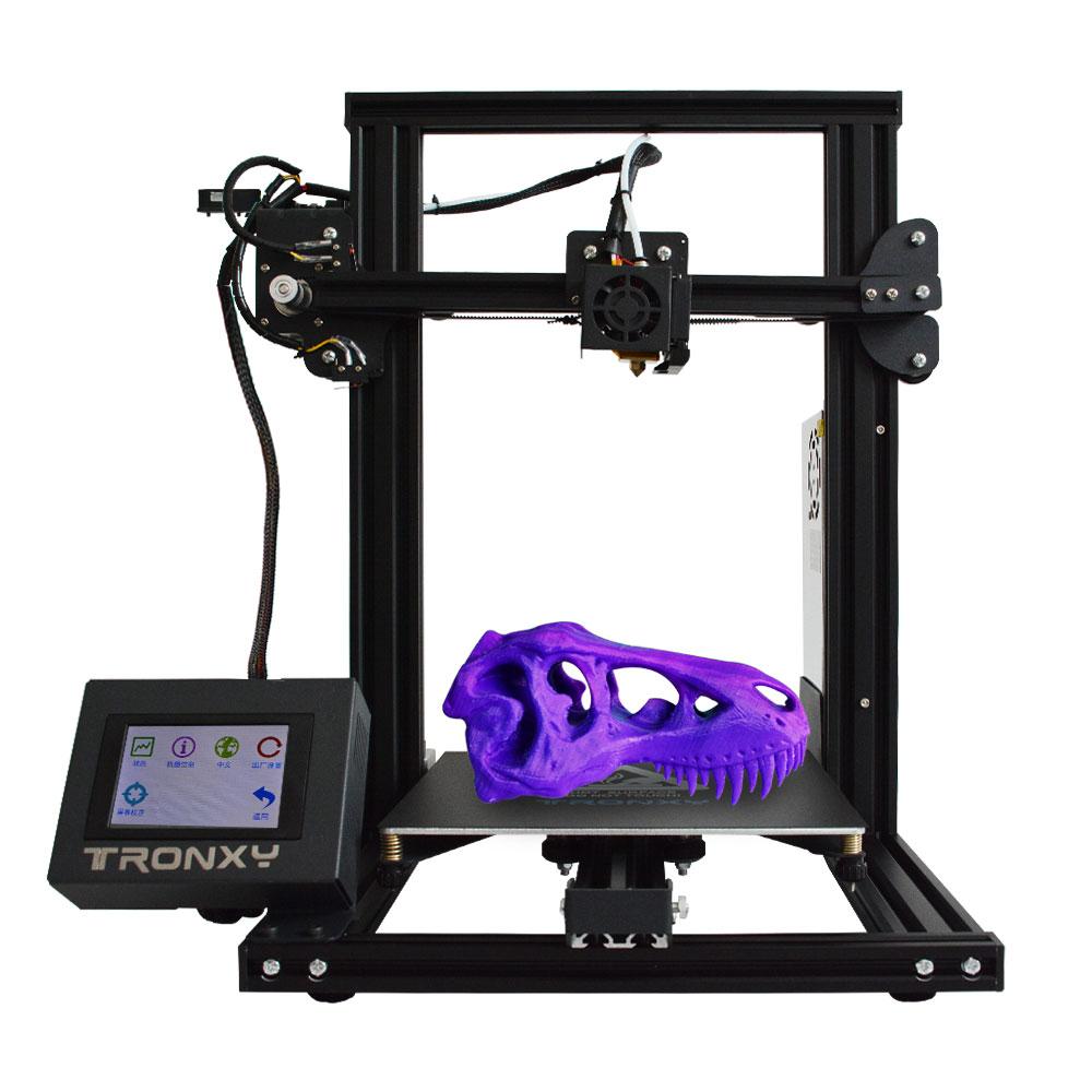 Tronxy XY-2 быстромонтируемый металлический 3D-принтеры 220*220*260 мм высокой печати Магнитная Тепловая бумага 3,5 cm Сенсорный экран