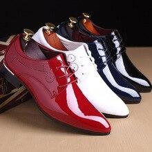 높은 품질 브랜드 남자 공식적인 신발 남자 옥스포드 가죽 드레스 신발 패션 비즈니스 남자 신발 지적 된 결혼식 신발