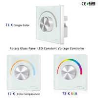 T1-K/T2-K/T3-K Rotante Pannello di Vetro Singolo Colore HA CONDOTTO LA Costante Regolatore di Tensione per singolo colore/temperatura di colore /RGB ha condotto la striscia