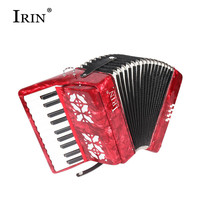 IRIN 22 Keys 8 Bass accordion 22K8B With Adjustable Straps Gift Toys Kids Children Musical Instrument Beginners With Gloves wipe