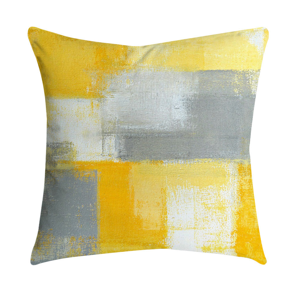 18 Inch Square Pillow Case Linen Waist Throw Cushion Cover Sofa Car Home Decor