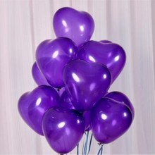 Deep Purple Heart Balloon 10 Inch Thick Latex Ballons Decors Mariage Balloons Birthday Party Accessories decoration anniversaire
