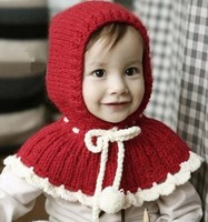 2013 Newest Very Beautiful Flower Border Decoration Ball Lace Up Design Crochet Winter Baby Hats Kids