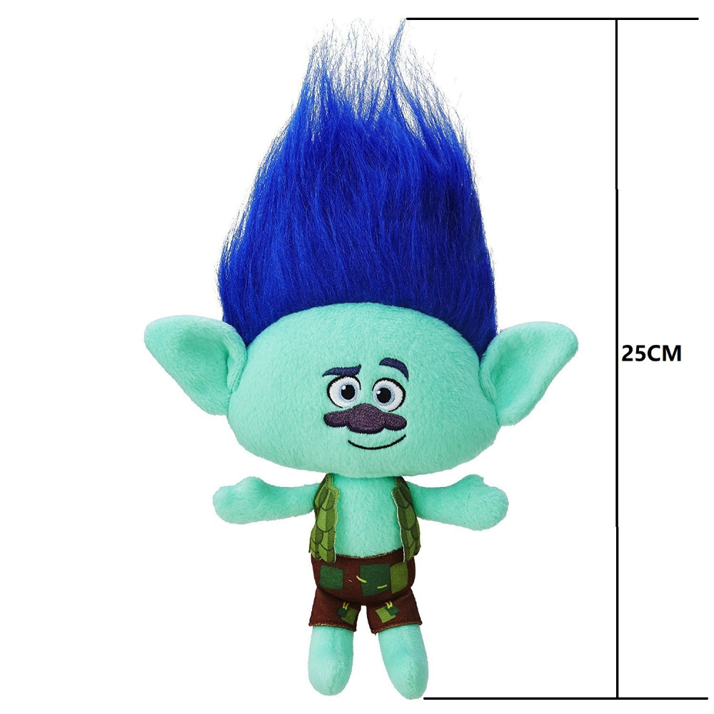Dreamworks Movie Trolls Toy Plush Trolls Poppy/Guy Diamond/ DJ Suki/ Branch Trolls Figures Magic Fairy Hair Wizard Kids Toys