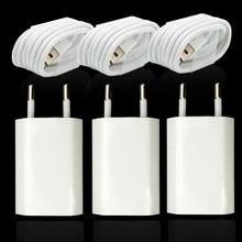 Adattatore per caricabatterie da viaggio con cavo di ricarica USB a 8 pin per iPhone 5 5s 6 6S 7