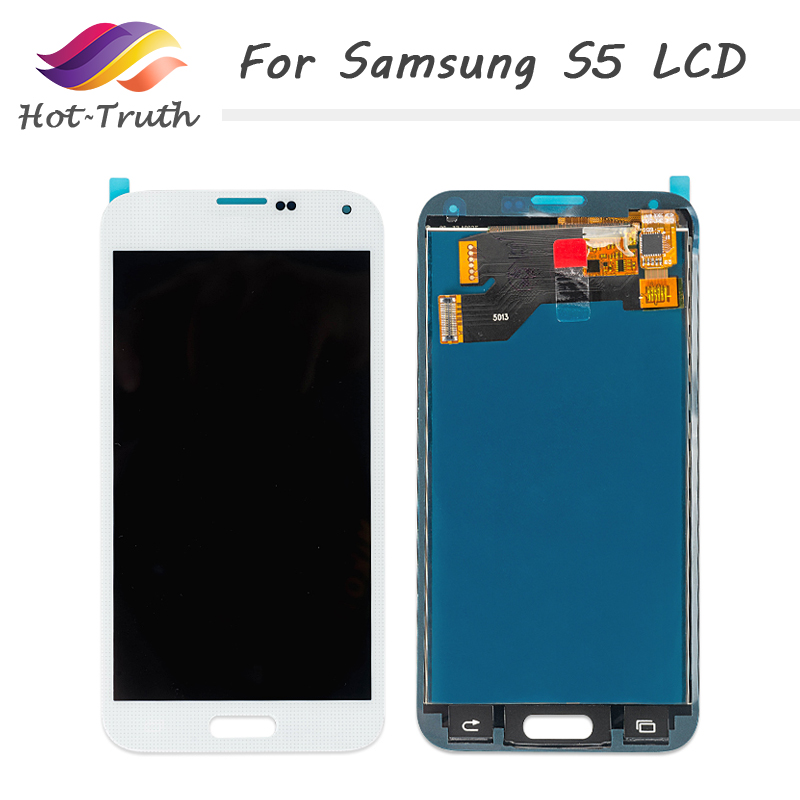Hot-Truth 5Pcs/Lot LCD For Samsung Galaxy S5 i9600 SM-G900 G900 LCD Display Touch Screen Digitizer Assembly Free Shipping by DHL