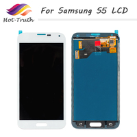 Hot Truth 5Pcs/Lot LCD For Samsung Galaxy S5 i9600 SM G900 G900 LCD Display Touch Screen Digitizer Assembly Free Shipping by DHL