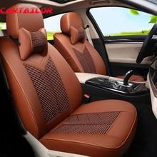 Cartailor Чехлы на автомобильные сиденья подходит для Dodge Калибр 2007 2008 Автокресло Обложка комплект шелк льда и из искусственной кожи Салонные аксессуары