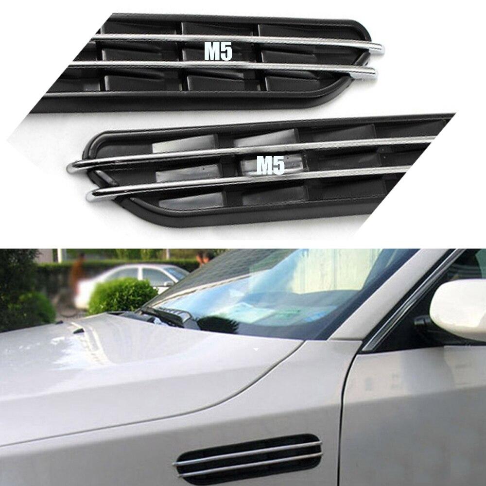 Боковые вентиляционные отверстия, декоративные наклейки на решетку для BMW E60 E61 E39 E34 M3 E46 M5, 2 шт.