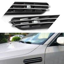 Боковые вентиляционные отверстия для воздушного потока, декоративная наклейка на решетку отверстия для BMW E60 E61 E39 E34 M3 E46 M5 2 шт.