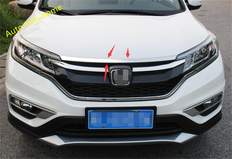 High Quality For Honda CRV CR V 2015 2016 Stainless Steel Front Gill Engine Lid Molding