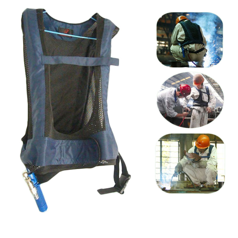 Air Cooling Vest : Portable human conditioned clothing welding clothes cool