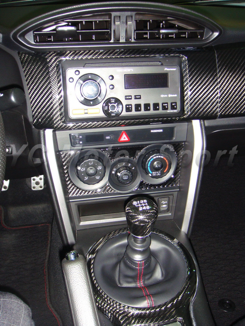 Carbon Gear Shifter Surround Frame Cover for Toyota GT86 Subaru BRZ Scion FR-S