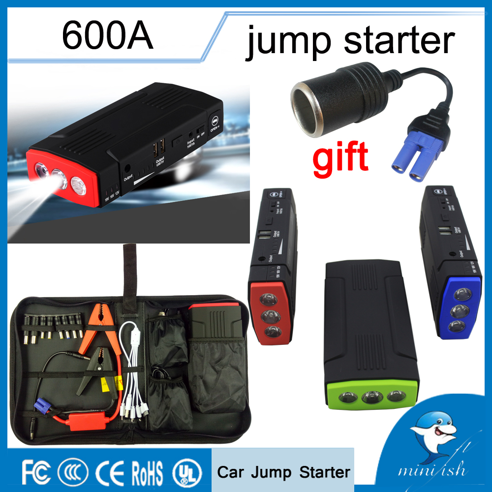 Portable Multifunction 600A AUTO Emergency Start Battery Charger Engine Booster Power Bank Car Jump Starter For 12V Battery Pack camping