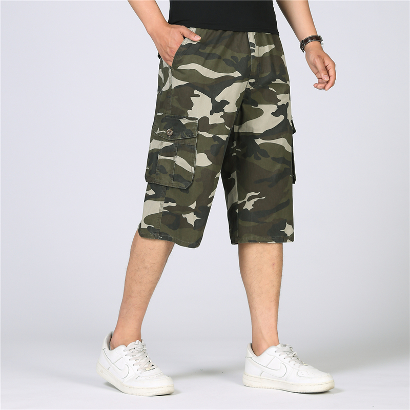 Summer Camouflage Cargo Shorts Men Knee Length Military Camo Shorts Men Casual Cotton Co ...