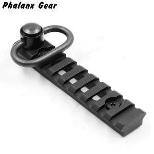 Image 2 - Tactical KeyMod Picatinny szyna tkacka sekcje 8 gniazd płyta montażowa z QD Sling Adapter przegubowy do polowania