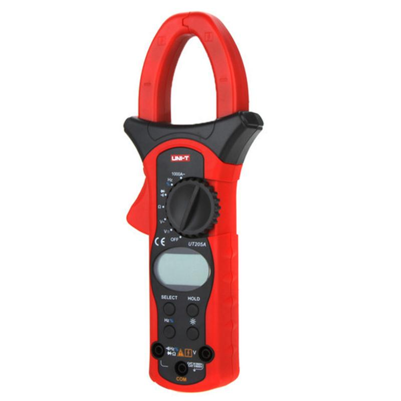 UNIT UT205A Auto Range 1000A Digital Clamp Meters Multimeters Voltmeter with LCD Backlight LCD Electrical Multimeter ua6013l auto range digital multimeter with low price