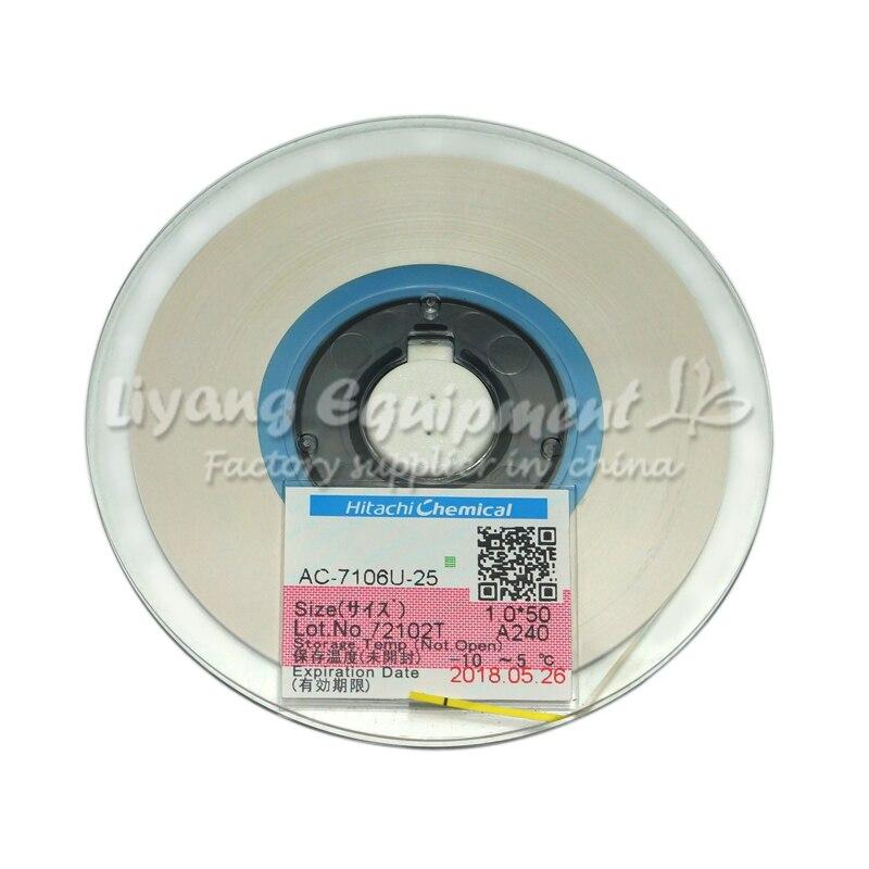 Original ACF AC-7106U-25 1.0MM*50M TAPE for mobile phone lcd repair tools original acf ac 7106u 25 1 2mm 50m tape new date