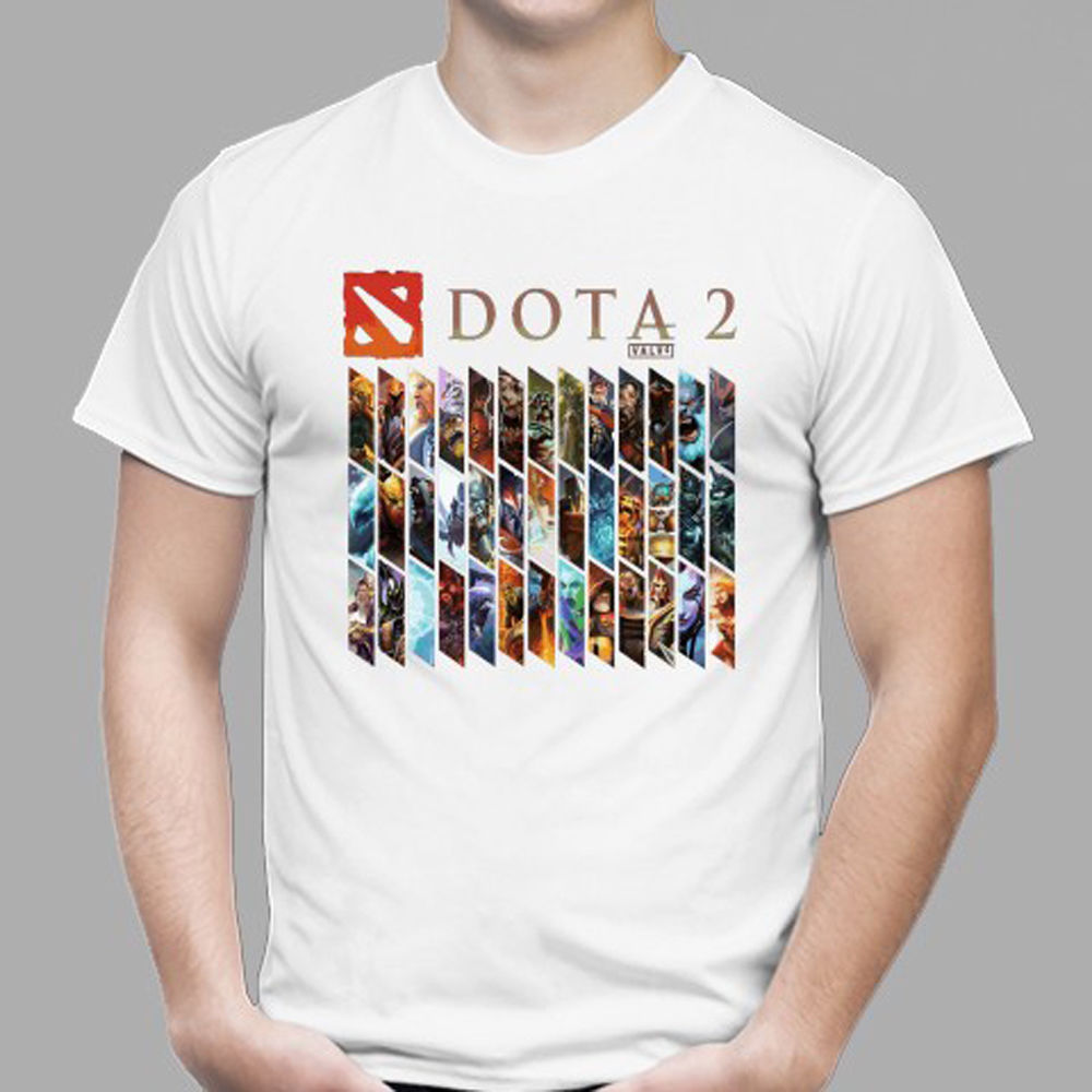 New DOTA 2 Heroes Famous Online Game Mens White T-Shirt Size S to 3XL