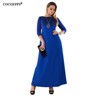 5XL 6XL 2017 Big Sizes Robe Long Dress Winter Patchwork Evening Party Dresses Plus Size Elegant