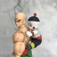 Anime Dragon Ball Z SHF Figuarts Tien Shinhan & Chiaotzu Joint Movable PVC Action Figure Collectible Model Kids Toy Doll
