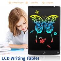 ЖК дисплей записи планшеты 12 дюймов цифровой рисунок электронный почерк Pad сообщение графика доска детская письменная доска подарки для де...