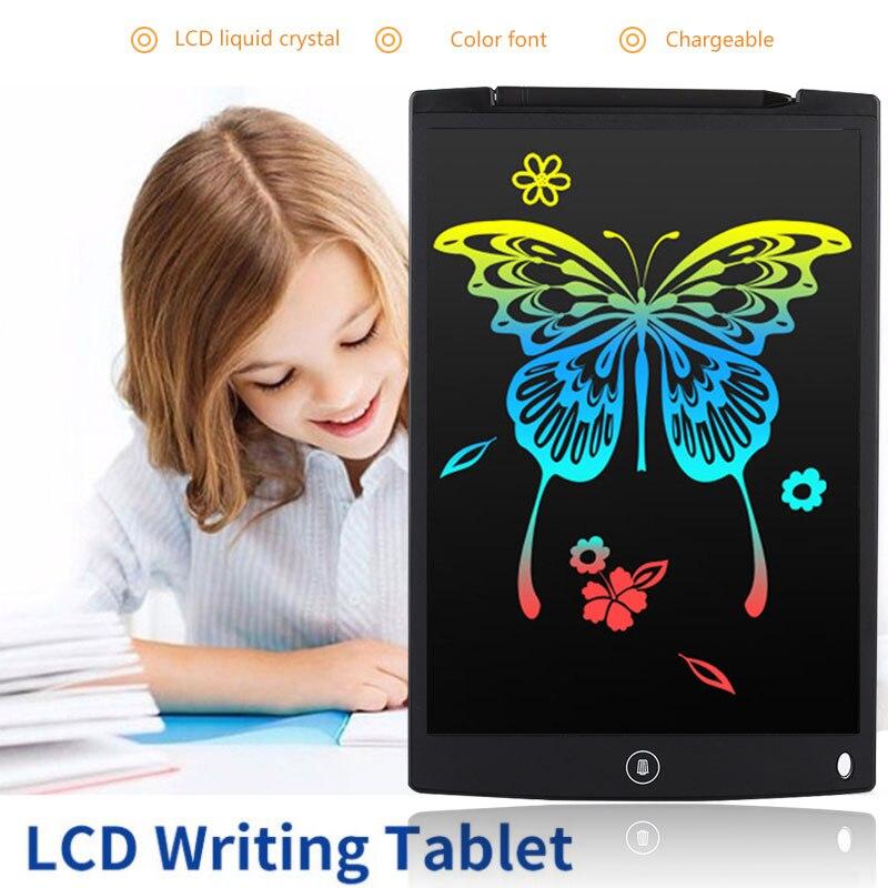 Tablette d'écriture LCD 12 pouces dessin numérique écriture électronique Pad Message graphique conseil enfants tableau d'écriture enfants cadeaux