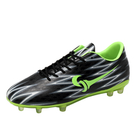 New Men Boys Football Shoes For Sale Leather Soccer Training Shoes Men Black Blue Football Sneakers