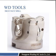 купить WDMW080520 for sks  high feed  face mill SKS -50-22-4 63-22-4T 80-27-5T  Shoulder Cutter Face mill недорого