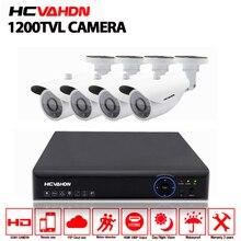 4CH CCTV System 1200TVL CCTV Camera Home Security Video Surveillance Kit 1080P AHD DVR HD 720P