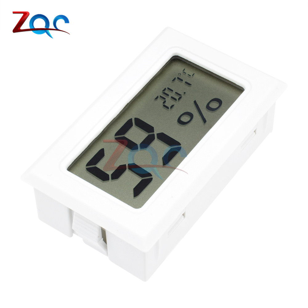 White Mini LCD Digital Thermometer Hygrometer Temperature Indoor Convenient Temperature Sensor Humidity Meter Gauge Instruments as837 humidity temperature meter digital hygrometer humidity gauge
