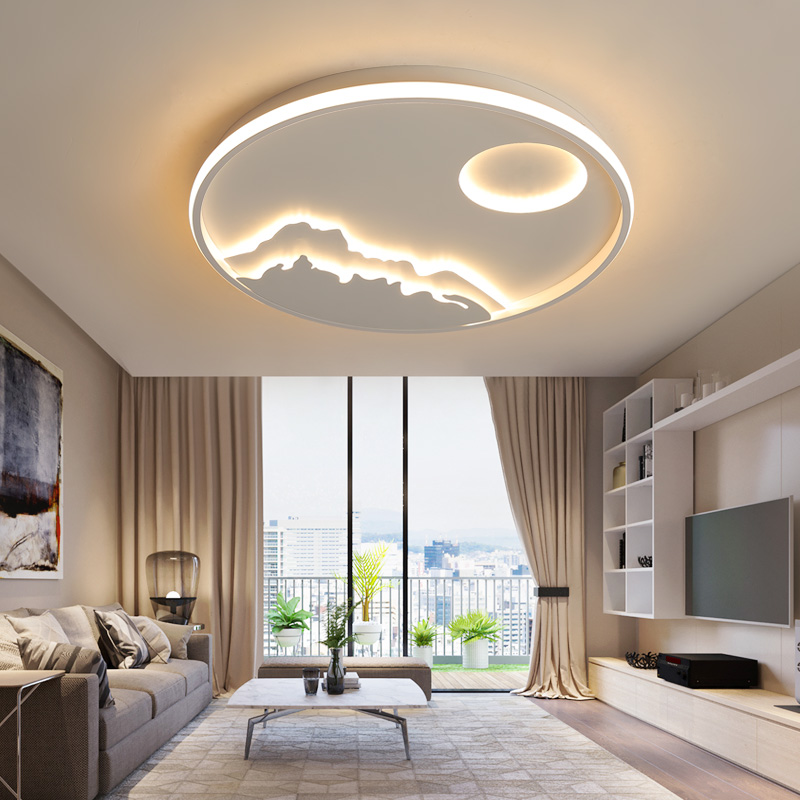 New Arrival Round Dimmable Modern Led Ceiling Lights For Living Room Bedroom Study Room White Color