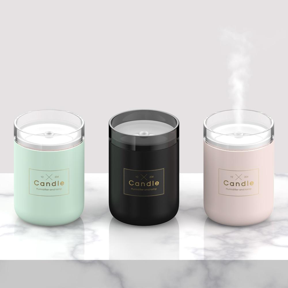 280 ml Luftbefeuchter LED Kerze Ultraschall Kühlen Nebel Ätherisches Öl Diffusor USB Aroma Lampe Auto Reiniger Fogger Nebel Maker