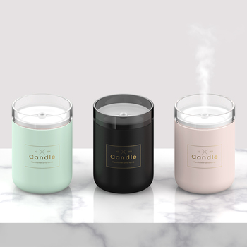 280ML Air Humidifier LED Candle Ultrasonic Cool Mist Essential Oil Diffuser USB Aroma Lamp Car Purifier Fogger Mist Maker