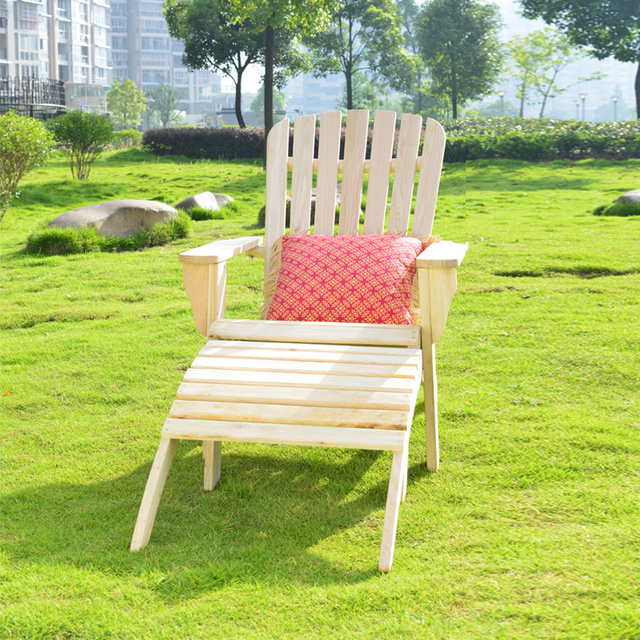 Dutch Wooden Loungers Simple Wood Outdoor Beach Chair Siesta Back  Environmental Qualities Household WFN67QAN