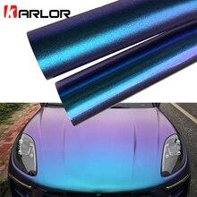 50x200 см Глянцевый/матовый синий фиолетовый, хамелеон, перламутровый блеск, Виниловая наклейка, автомобильная пленка, наклейка, украшение автомобиля, стиль