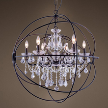 Buy crystal orb chandelier and get free shipping on aliexpress chandelierstyle modern vintage orb crystal chandelier lighting candle led pendant aloadofball Gallery