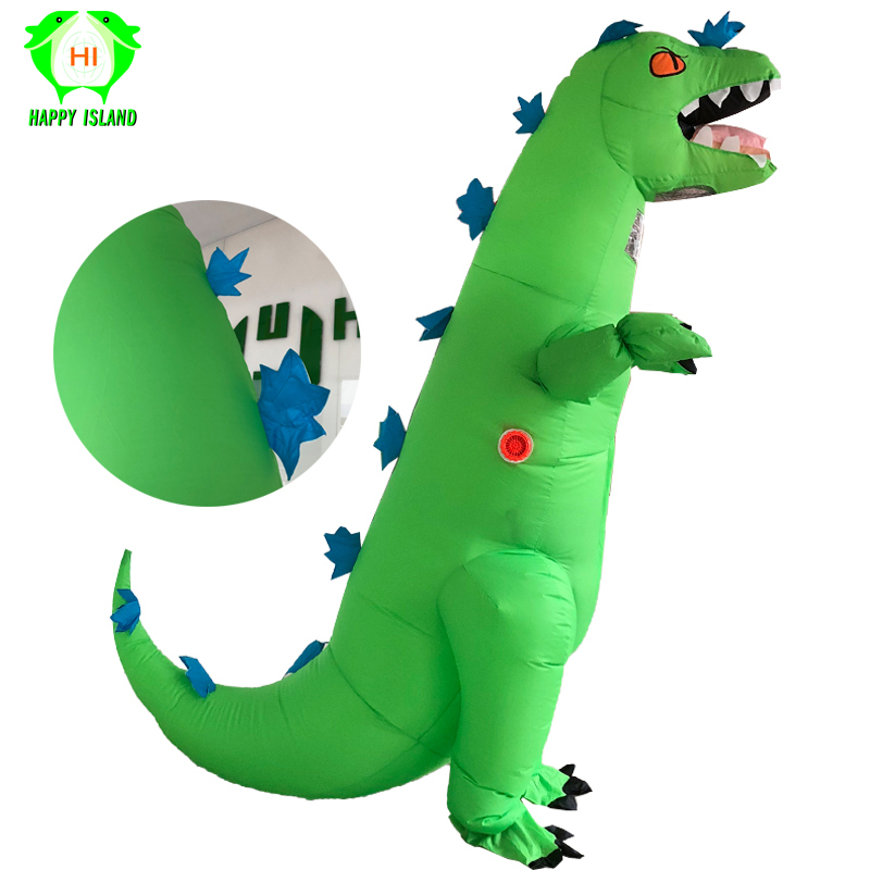 2019 Newest Green Dinosaur Inflatable Costume Fantasia Adult Halloween Cosplay Costume Inflated Garment For Adult Disfraces