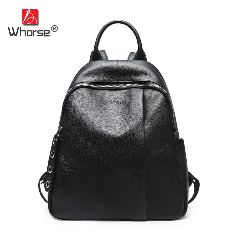 Brand Fashion Genuine Leather Backpack Women Leisure Style Backpacks Girls School Bags For Girl Travel Bag W09240 go meetting brand fashion women backpacks soft washed leather bag schoolbags for girls leisure bag mochilas travel backpack