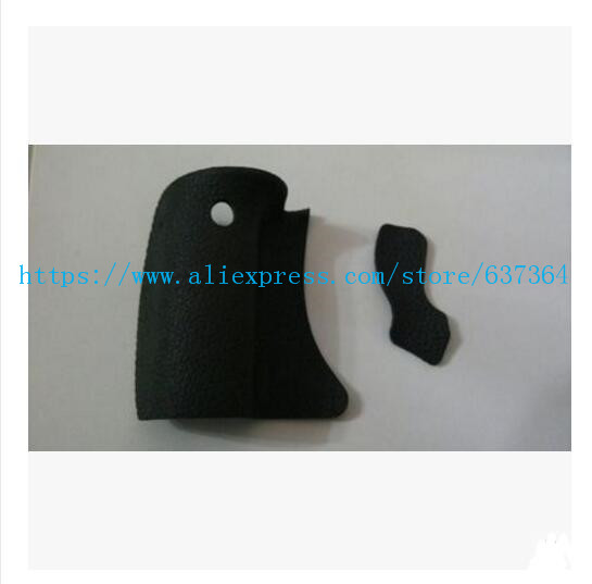 NEW A Set Of 2 pcs Body Rubber (Grip Rubber and Thumb Rubber) For Canon 600D Camera Replacement Unit Repair Parts image