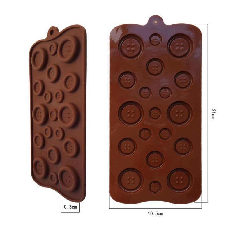 Wulekue силиконовая кнопка формы для шоколад желе пудинг конфеты кубик льда лоток помадка торт украшения инструменты кухня