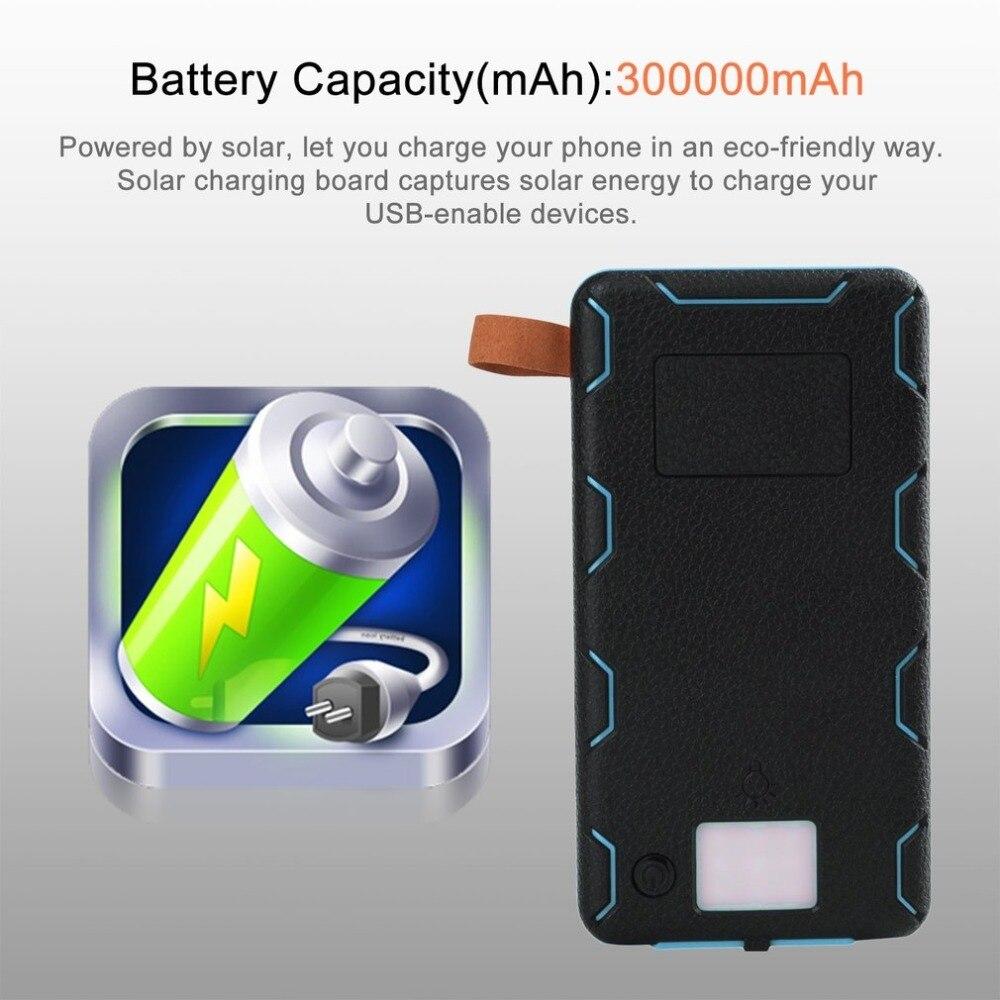 Солнечный Мощность банк Батарея 30000 мАч Водонепроницаемый три раза Мощность банк Портативный Зарядное устройство Источники питания с Отды...