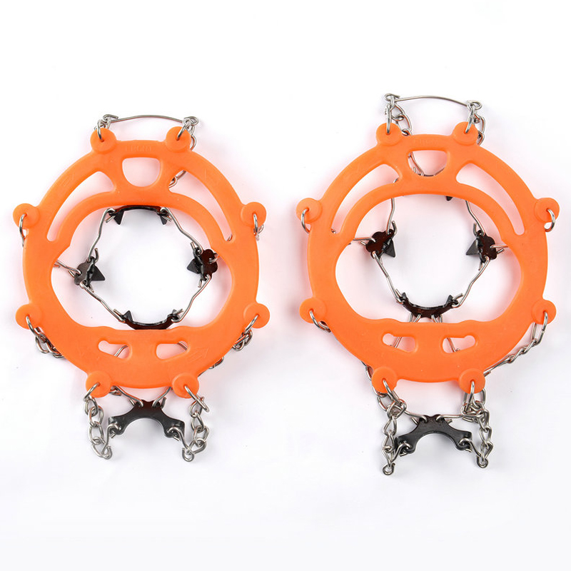 Universal outdoor Safety Anti-Skid Snow Ice Climbing Shoe Spikes Grips Crampons Cleats Overshoes