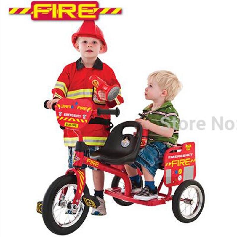 цена  Eurotrike Tandem Trike Fire Or Police Twins Tricycle Double Seat  онлайн в 2017 году